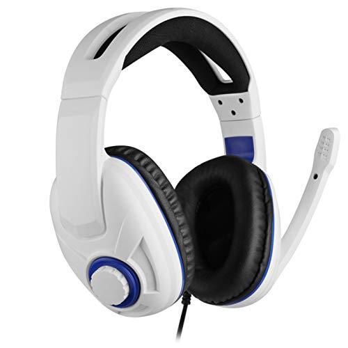 Wired Gaming Headset für PC, White Over Ear Kopfhörer Stereo Headset mit Mikrofon für Ps4 Ps5 Xbox Switch PC