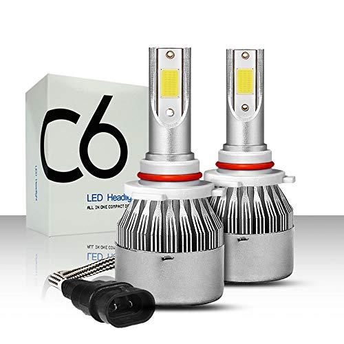 REEMILY 2PCS H7 Led Faros C6 COB Turbo Ventilador 12V 6000K H4 H1 H3 H8 / H9 / H11 H27 9005 / HB3 9006 / HB4 9012 Lámpara led para coche al por mayor
