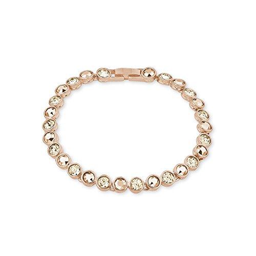 NOELANI Damen-Armband rosévergoldet veredelt mit Kristallen von Swarovski