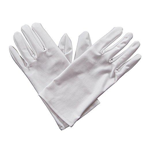 Gents Gloves - WHITE Fancy Dress Accessory