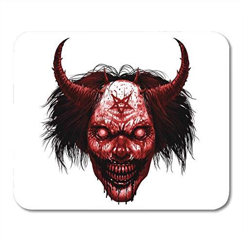 Mauspads Rotes Gesicht Hölle Böses Lächeln Clown Make-up Langes Haar Mauspad für Notebooks, Desktop-Computer Matten Büromaterial