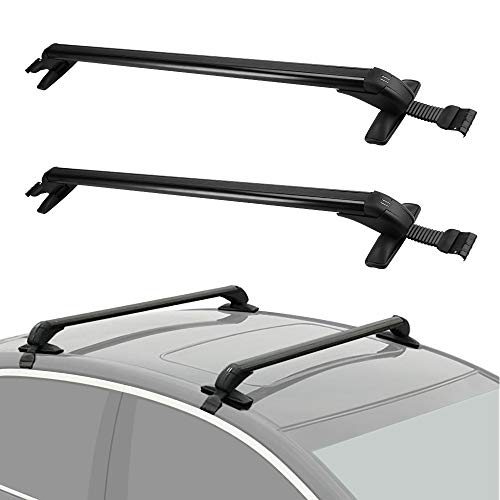 LEDKINGDOMUS Roof Rack Adjustable 43' Cross Bars, Aluminum Crossbars for Car Vehicles SUVs, Top Luggage Carrier Racks