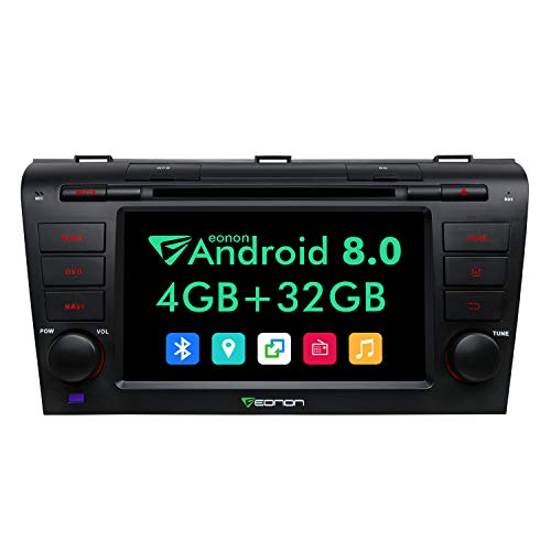 Eonon Android 8.0 Car Stereo Radio 4GB RAM +32GB ROM Octa-Core 7 Inch in Dash Touch Screen Car Radio Applicable to Mazda Speed 3 2004,2005,2006,2007,2008 and 2009 Support WiFi,Fastboot-GA9151A