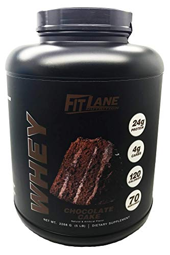 Low Carb Protein Powder. Best Tasting Chocolate Whey Protein Shake Mix for Men and Women. Protein Whey by Fit Lane Nutrition 5 lb Chocolate Flavor
