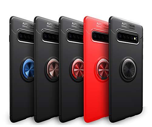 Wephone Accesorios Funda de Silicona con Anillo para (Samsung A41, Negro)