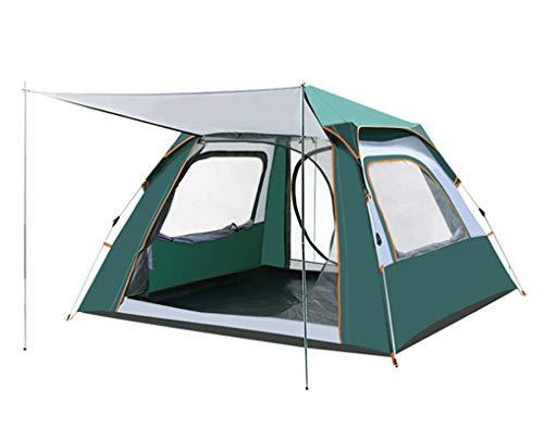 HSSE Tienda de Camping Tienda de cúpula Familiar de 3-4 Personas con Mosca de Lluvia removible, fácil de Instalar para el Campamento Mochilero Senderismo al Aire Libre