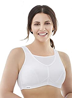 Glamorise Women's Full Figure No Bounce Plus Size Camisole Wirefree Back Close Sports Bra #1066