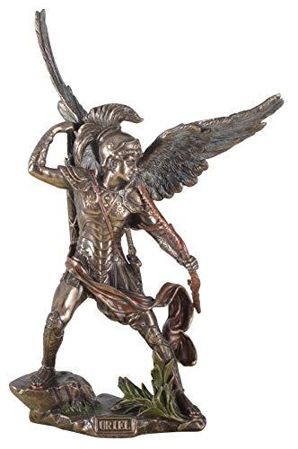 Veronese Figura Arcángel Uriel con fuego arco Ángel Escultura