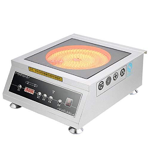 TSTYS Induktionskochfeld, professioneller kommerzieller Hochleistungsinduktionsherd 5000W High-Power-LED-Panel für Verschiedene Restaurants,OneSize