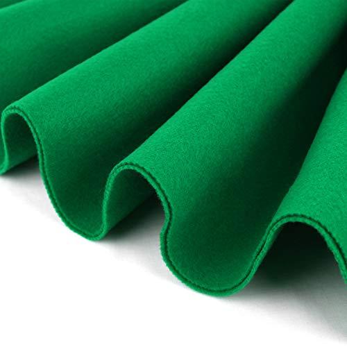 Barcelonetta   Acrylic Felt Fabric   72'' Inch Wide   1.5mm Thick   DIY Arts & Crafts, Sewing, Cushion and Padding (Kelly Green, Half Yard)
