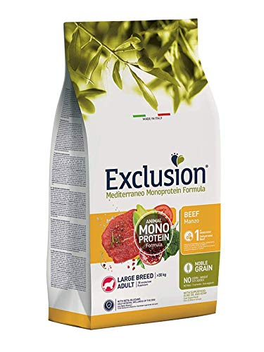 Exclusion MEDITERRANEO MONOPROTEIN Noble Grain Dog Adult Large Manzo 12 kg.