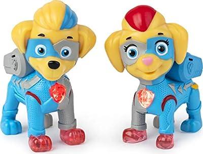 PAW Patrol Mighty Pups Super Paws, Mighty Twins - Figuras iluminadas para niños de 3 años en adelante por Spin Master