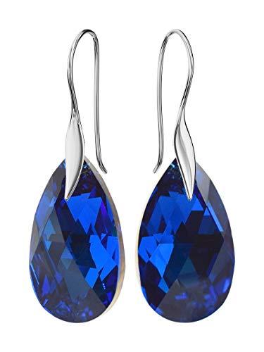 Crystals&Stones - Pendientes *Mandele* 22 mm color zafiro – bonitos pendientes de...