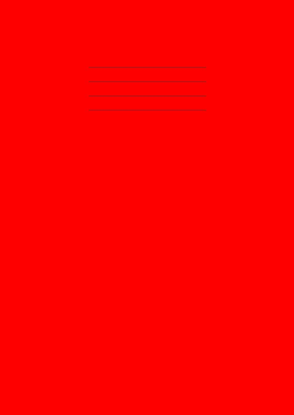 Maths Exercise Book: 10mm Squared Notebook A4, For Schools, 100 Pages, 90gsm Paper - Red