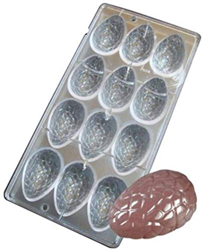 Baifeng 3D Easter Egg Chocolate Molds Clear Polycarbonate Chocolate Mould DIY Candy Handmade Form Maker Ice Muffin Tray