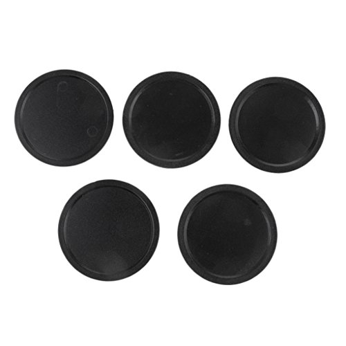 B Baosity 5er Pack Air Hockey Set Pucks Pushers Tischspiel - Schwarz, 50mm