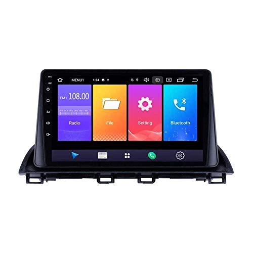 Radio de coche Android 8.1 de 9 pulgadas con navegación GPS para Mazda 3 Axela 2013 – 2018, Bluetooth, llamadas manos libres, FM/RDS, cámara de marcha atrás, control de volante, conexión de espejo