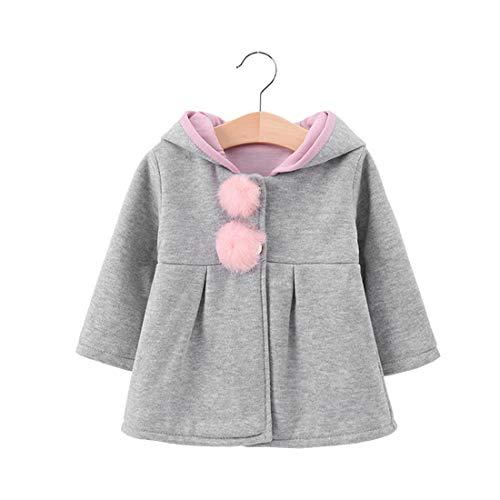 Abrigo de Invierno cálido con Orejas de Conejo Encantadoras para niñas pequeñas, Chaqueta con Capucha para bebés, Prendas de Vestir Exteriores