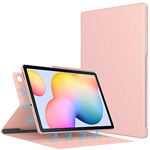 Case for All-New Galaxy Tab S6 Lite 10.4 Inch 2020 (SM-P610/P615), Ultra Slim Lightweight Magnetic Stand Cover with Auto Sleep/Wake Fit Galaxy Tab S6 Lite 10.4 2020 Tablet, Rose Gold