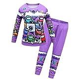 私たちの新しい子供たちの中で寝室の男の子のクリスマスのピジャマの家の服のための男の子の長袖トップス冬の服5-16 y