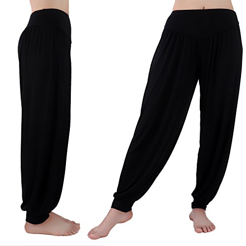 medium Yopin Morbido yoga pilates pantaloni harem hippie Bloomer pantaloni donna leggings lunghi Baggy pantaloni lounge Grey