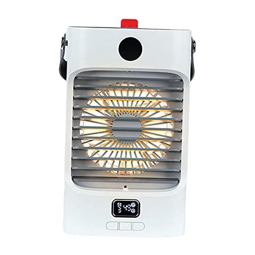 LOVIVER Condizionatore d'Aria Portatile, Ventola di Raffreddamento Ad Aria Personale con 3 velocità, Ventola di Raffreddamento USB, Ventola di Raffreddam - Bianco