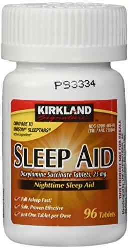Kirkland Signature Auxiliar de Sono Noturno 25 mg - 96 Comprimidos