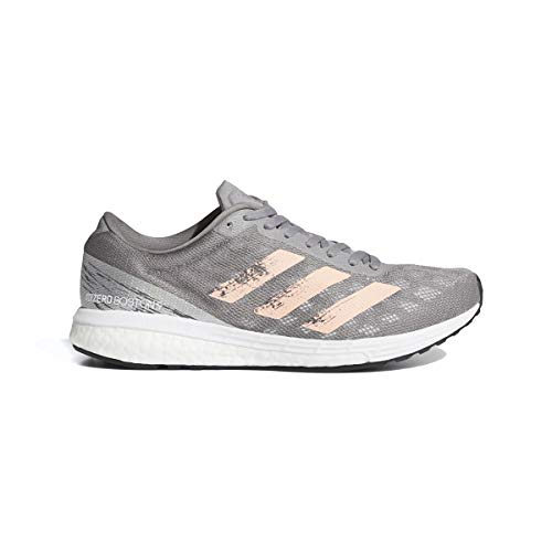 adidas Adizero Boston 9 Running Shoe - Women's Grey Three/Ltflor/Silver Metallic, 6.5