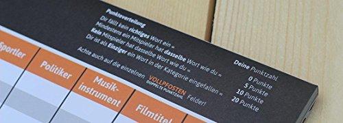 DENKRIESEN Stadt Land Vollpfosten – Intelligenz-ist-relativ – Stadt Land Fluss neu aufgelegt – Spielblock (Din A3-Format), XXL Spielblock - 7