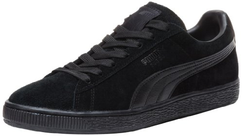 PUMA Suede Classic Leather Formstrip Sneaker,Black/Black,13 D(M) US