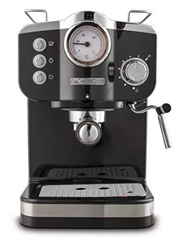 Nodis Aroma Retro Macchina caffè, 1100 W, 1.25 Litri, Plastica Metallo, Nero