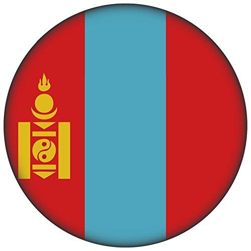 FanShirts4u Button/Badge/Pin - I Love MONGOLEI Fahne Flagge (Mongolei/Flagge)