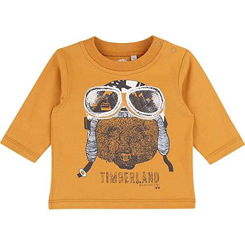Timberland T-Shirt en Coton sérigraphié Bebe Couche Yellow Boots 1MOIS