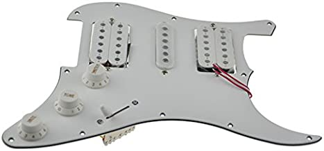 3Ply White Loaded Pickguard Pre-Wired HSH Pickguard Pickups Fits For Fender Strat Style