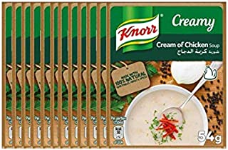 Knorr Packet Soup Cream of Chicken - 54 gm (Pack of 12)