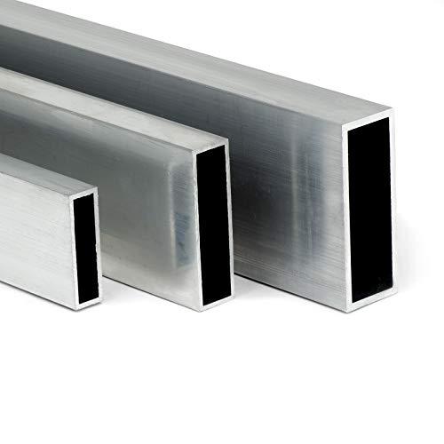 Aluminium Rechteckrohr AW-6060-80x20x2mm | L: 400mm (40cm) auf Zuschnitt