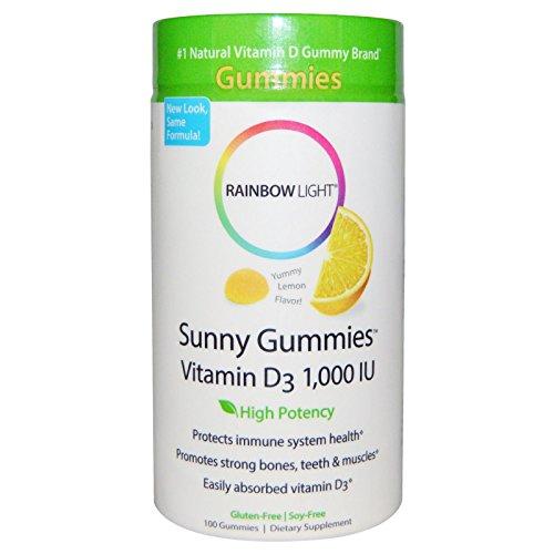 Rainbow Light, Vitamin D3 1000 I U Sunny Gummies Lemon, 100 Count