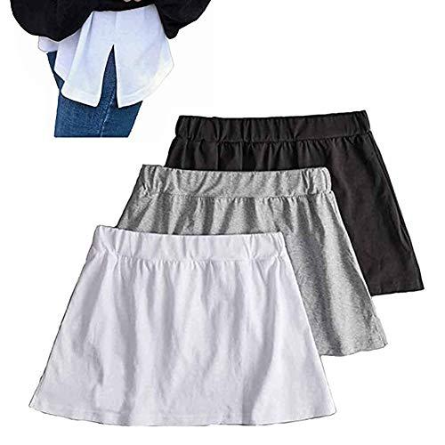 MEISHU 3 Pezzi Regolabili a Strati Finti Top Inferiore Sweep Perfetto per Abbigliamento Invernale (Nero, Bianco, Grigio) (L)