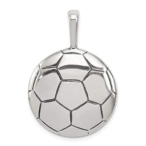 IceCarats Designer Schmuck Sterling Silber Antiqued Fußball-Anhänger