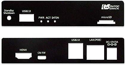 ラトックシステム CP-CM3MB2-PoE RPI-CM3MB2-PoE用パネル(フロント・リアセット)