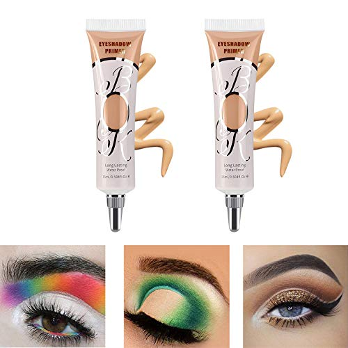 LOKFAR 2 Pack Matte Eyeshadow Primer for Oily Lids Black Eyeshadow No Crease Eye Primer Makeup Eyeshadow Base Waterproof & Smudge-proof & Long Lasting Cream Liquid Eye-shadow for All Shadows (Set C)