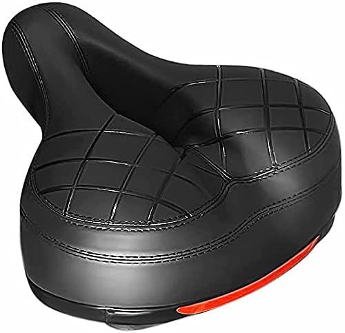 YMDA Sillín de Bicicleta con cojín a Prueba de Golpes, cojín súper cómodo, Bolas de Goma con Doble absorción de Impactos, Adecuado para recorridos de Larga Distancia