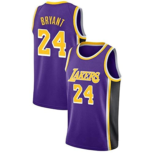 Kobe Bryant # 24 Männer Basketball-Jersey Los Angeles Lakers Mesh-Swingman Jersey Sleeveless Sport-Weste-Spitze H-M