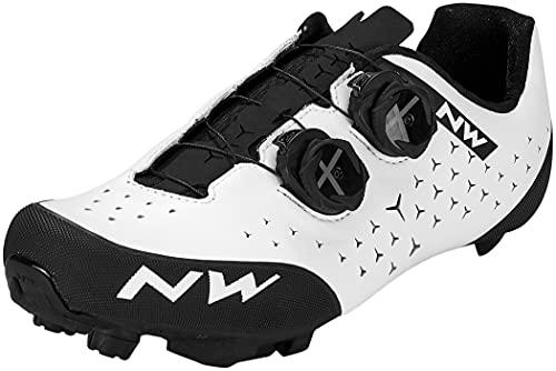 Northwave Rebel 2 MTB Fahrrad Schuhe weiß/schwarz 2021: Größe: 42