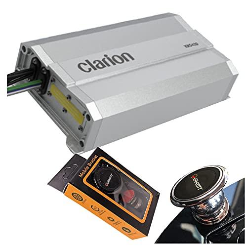 Clarion XR5420 Class D 4-Channel 400W Maximum Power Handling Car Audio Amplifier Sound System Subwoofer Speaker Amp with Gravity Magnet Phone Holder Bundle
