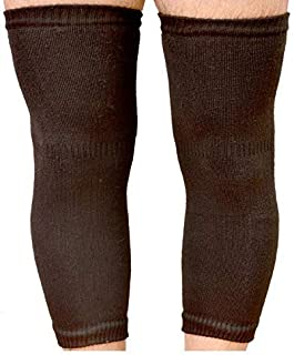 Sikander Unisex Woollen Elastic Knee Leg Support and Warmer (Black, Free Size)