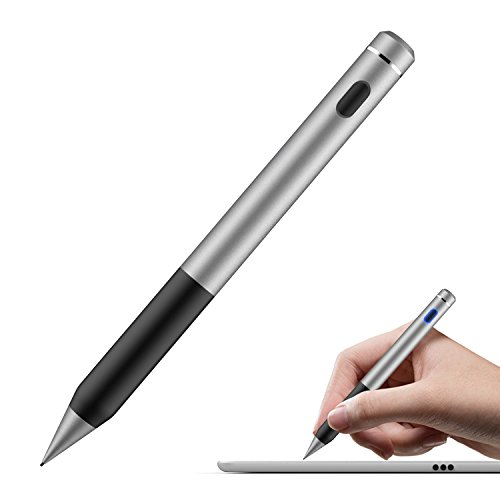 MoKo Universal Activer Stylus Stift - Touchscreen Eingabestift mit 1.5mm hochpräzis, mit Fiber Mesh Tipgeeignet für Samsung Tablets, iPad 2/3/4/Mini 4/Air 2/New iPad 9.7 2017, Space Grau