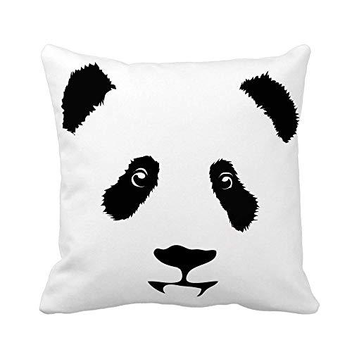 Funda de cojín Funda de Almohada Oso de dibujos animados de animales China Cabeza de bambú Juguete infantil decorativo Cojines 45X45CM