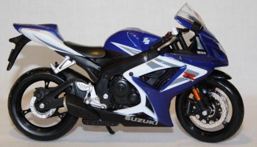 Motorrad Modell Maisto 1:12 Suzuki GSX-R 750 blau