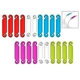 iPobie 20 pezzi Etichette Cavo,Etichette per Cavi Scrittura Multicolore per Laptop, PC, TV, Casa, Ufficio, Elettronica